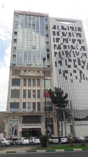 عکس برج اداری تجاری درختی کرج